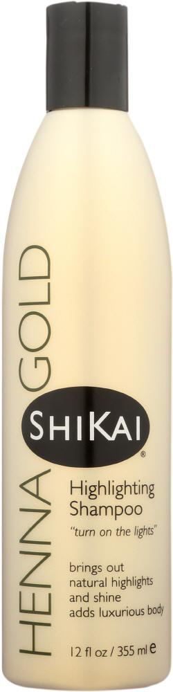 SHIKAI Henna Gold Highlighting Shampoo ,12 Oz