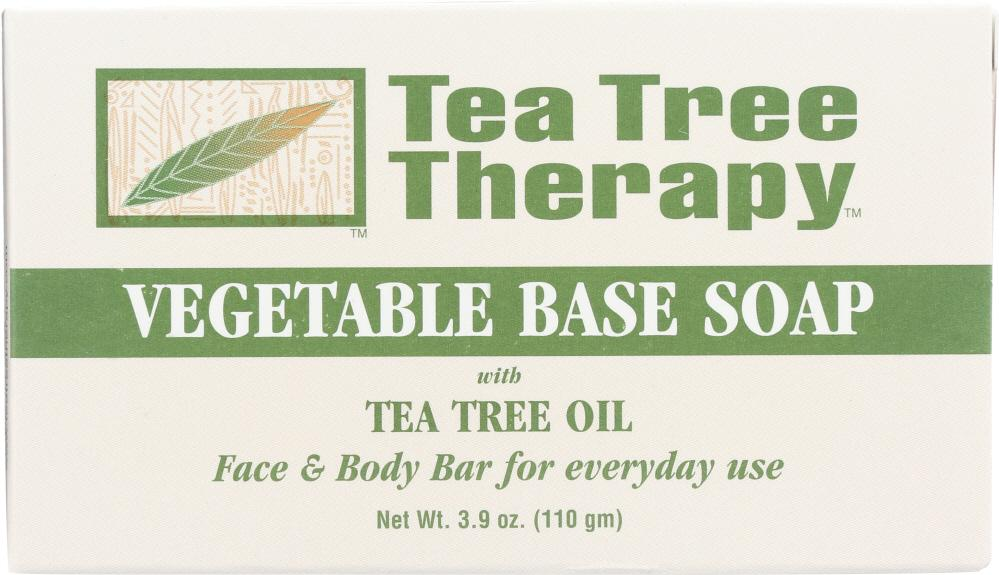 TEA TREE THERAPY Vegetable Base Soap With Tea Tree Oil, 3.9 Oz