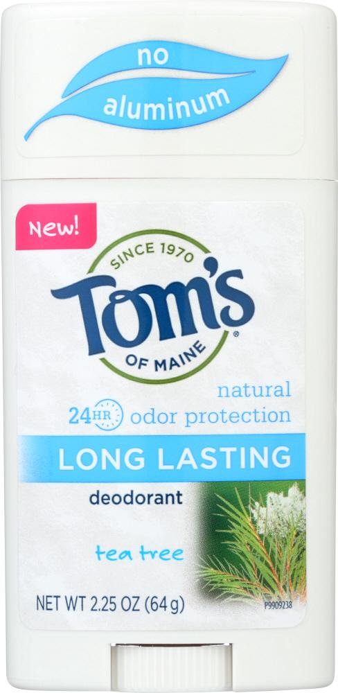 TOMS OF MAINE Natural Long Lasting Deodorant Tea Tree, 2.25 Oz
