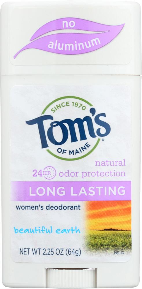 TOMS OF MAINE Natural Long Lasting Women's Deodorant Beautiful Earth, 2.25 Oz