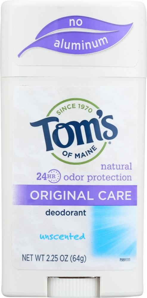 TOMS OF MAINE Original Care Deodorant Unscented, 2.25 Oz