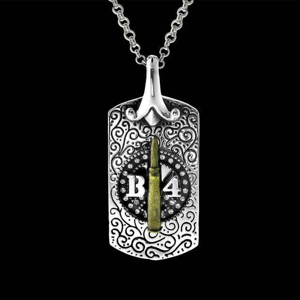 god-tag, army jewelry, bullet dogtag,