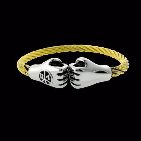 Punching Hands Bracelet - Gold