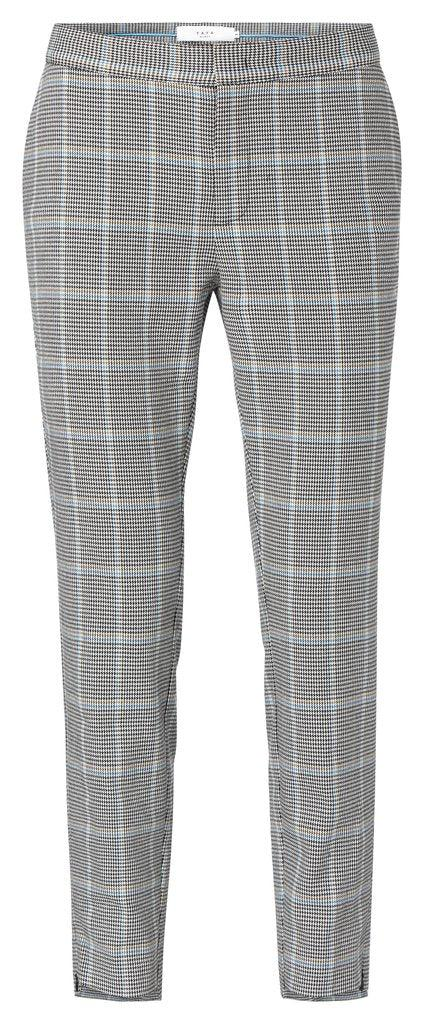 Yaya Electric Blue Designer Slim Fit Check Pantalon Pants