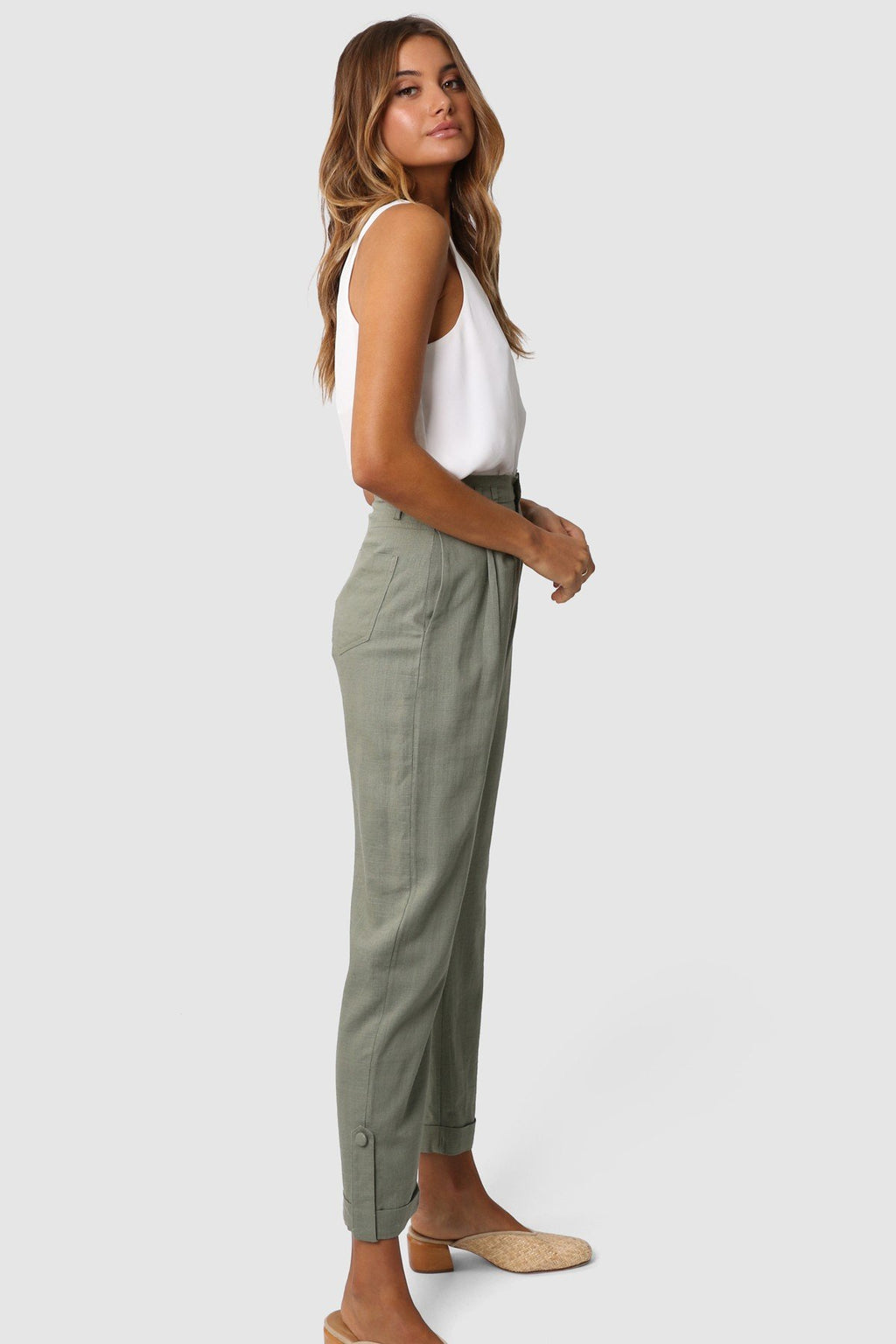 Lost in Lunar khaki weston pants