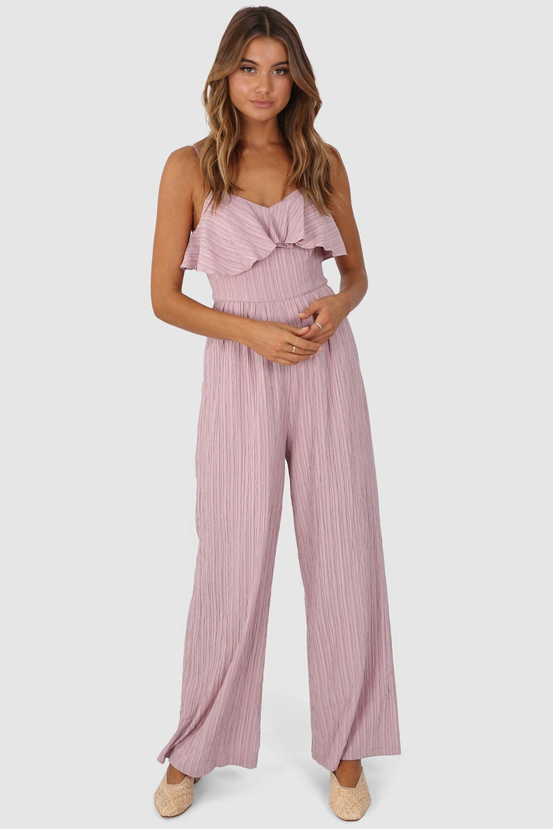 Lost in Lunar Tahnee Pantsuit Dusty Pink