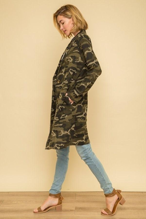 Mystree camo long coat