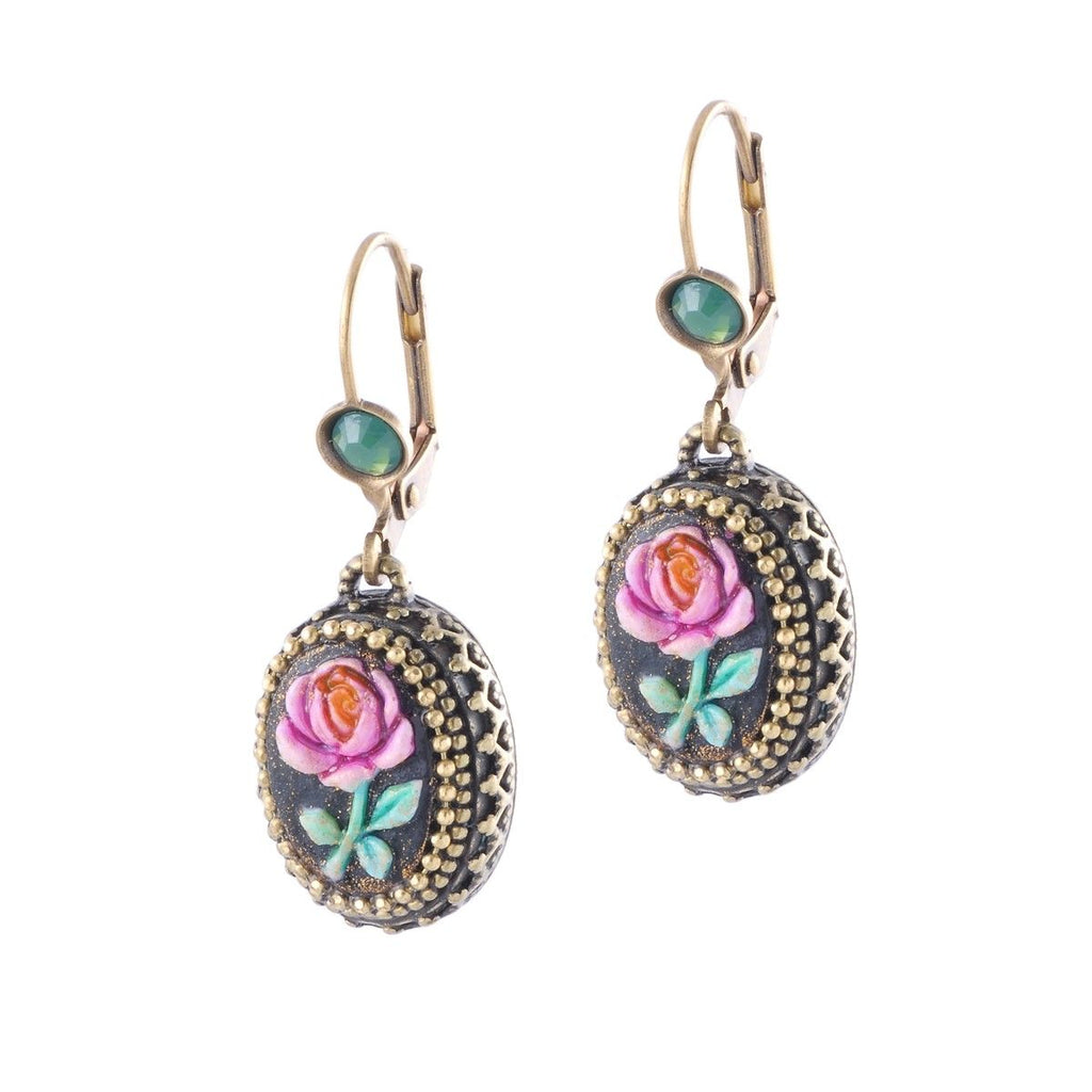 Michal Negrin handmade hook earrings