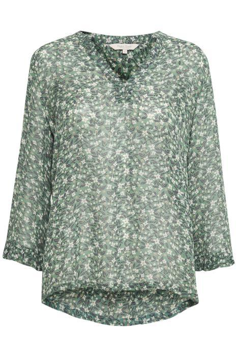 Part Two grey mini flower blouse