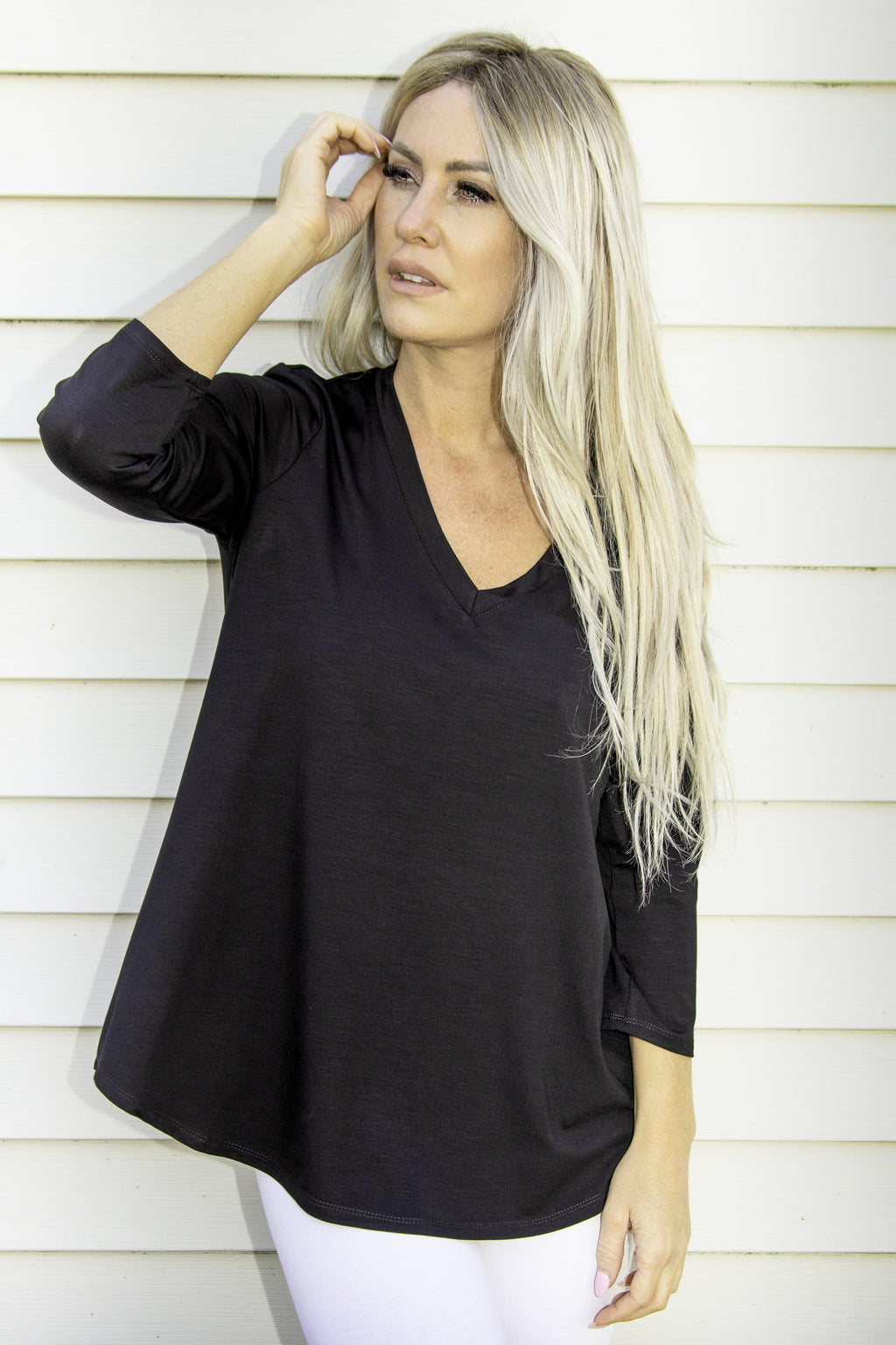 Pure Essence bamboo tee shirt - black