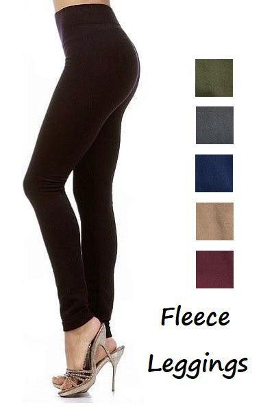 Fleece leggings - burgundy