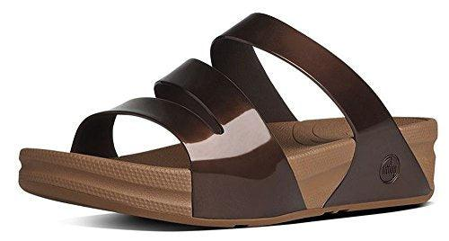FitFlop Superjelly Twist Bronze Sandals