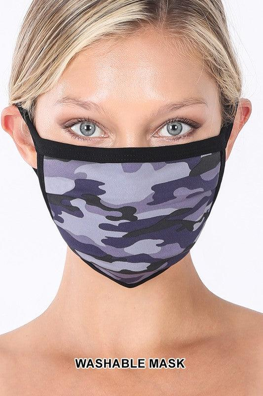 NAVY CAMOUFLAGE WASHABLE MASK
