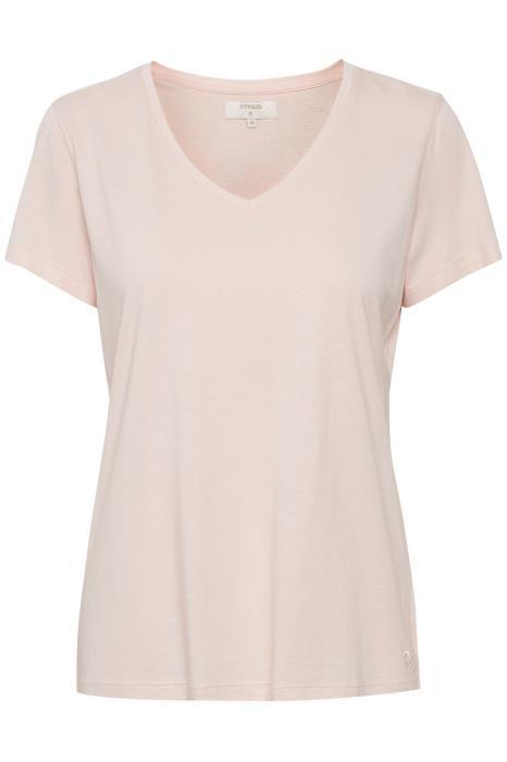 Cream sunshine rose v neck t-shirt