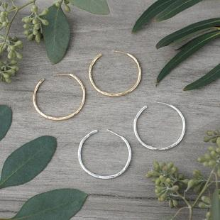 Classic Hoop Earrings - silver or gold