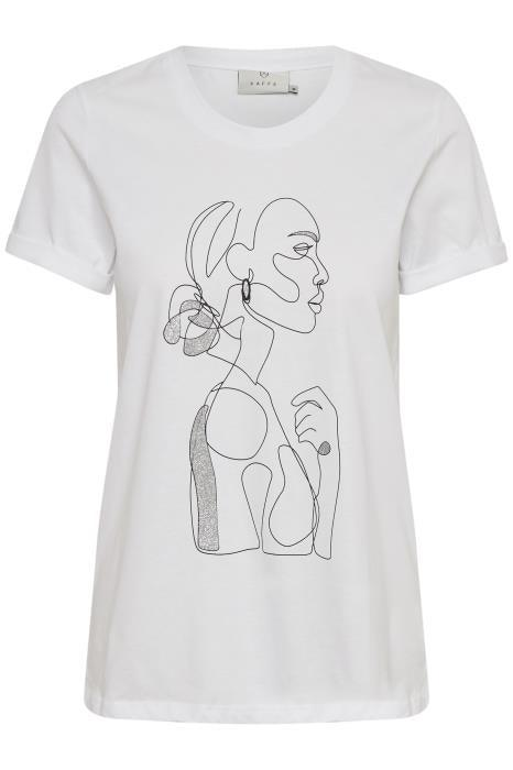 Kaffe optical white t-shirt