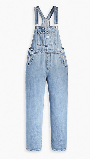 Levi's High Rise Vintage Blue Overalls
