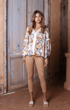 Lost in Lunar Floral Print Dixie Top