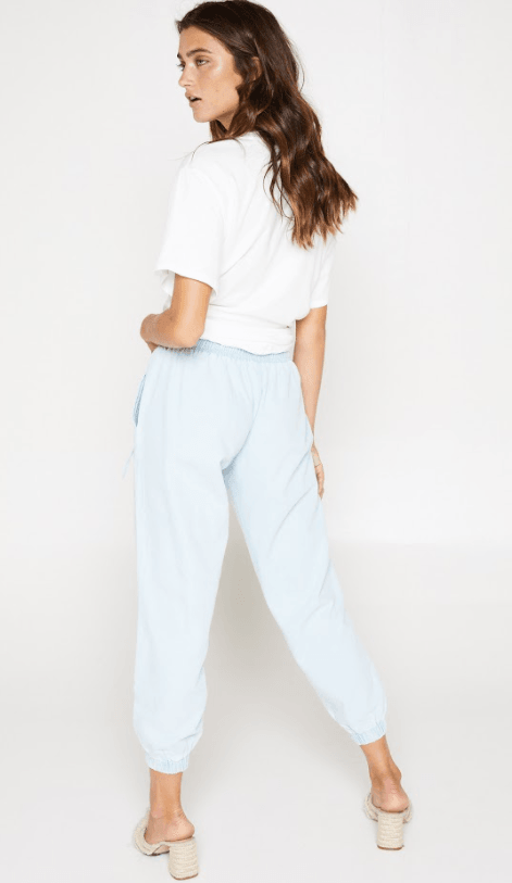 Sadie & Sage denim blue jogger pants