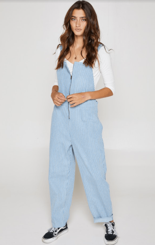 Sadie & Sage cropped overalls with zipper