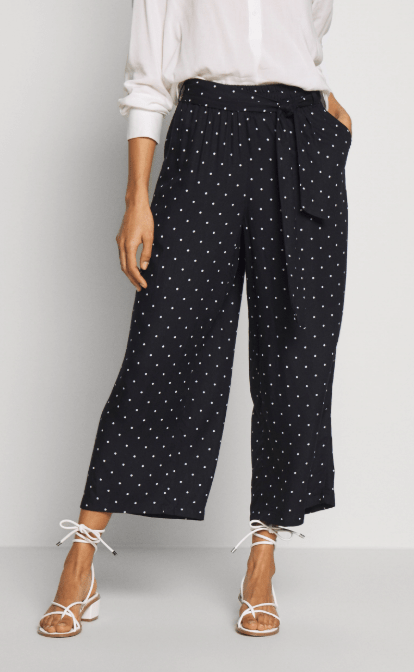 Kaffe Black Deep Coulette Pants