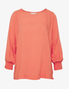 Kaffe Living Coral Blouse with Long Sleeves