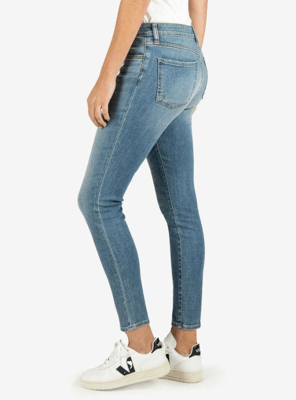Kut from the Kloth Donna high rise ankle skinny (chances wash)