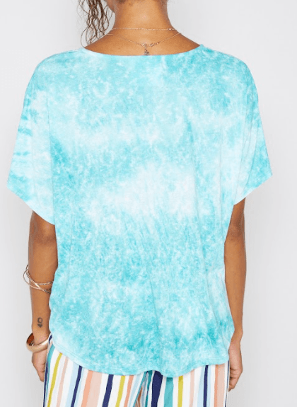 Sadie & Sage Tie Die twist tee - jungle green