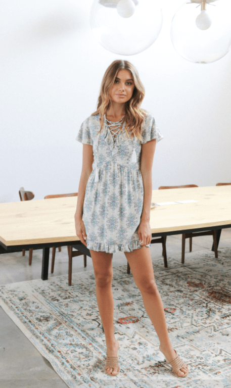 Lost in Lunar Evie paisley print dress