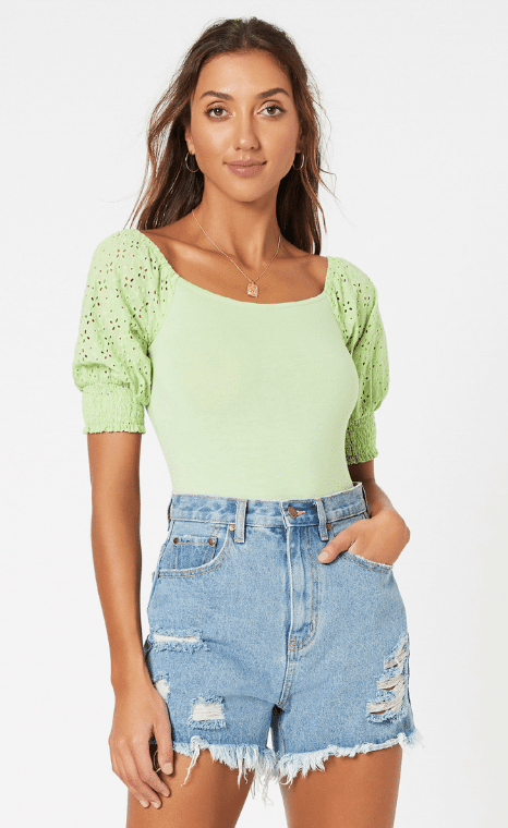 Mink Pink Think Twice Bodysuit - green