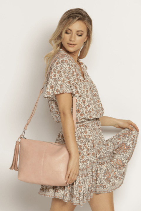 Lounehide Daisy cross body Bag / pale pink