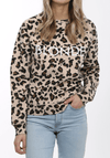 "Brunette the Label ""BLONDE"" Middle Sister Crew Neck Sweatshirt 