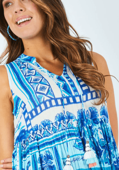 Orientique navajo print maxi dress