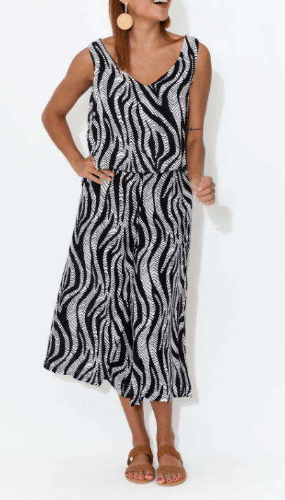 Orientique Black & White Jumpsuit