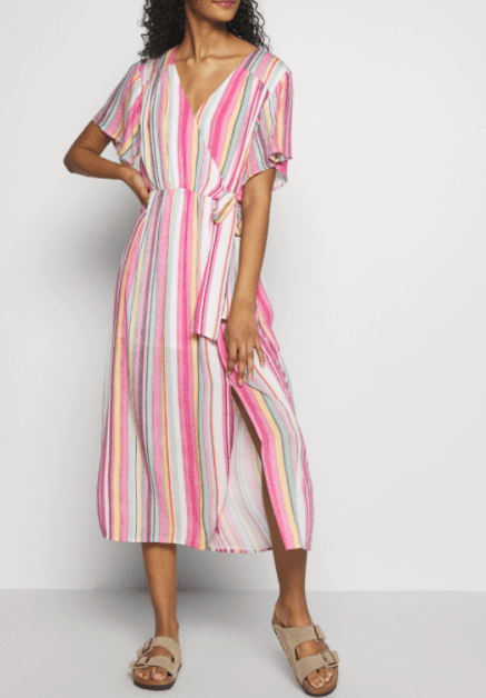 Mink Pink stripe midi dress