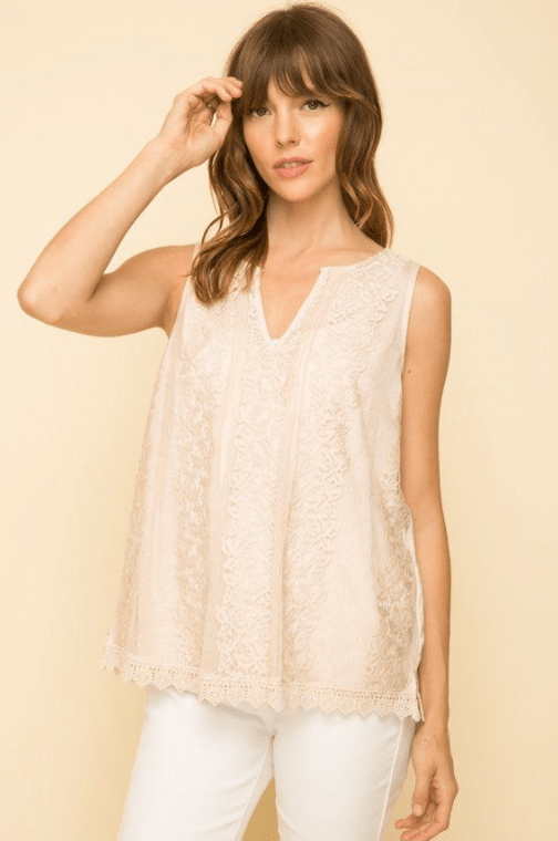 Mystree blush lace blouse