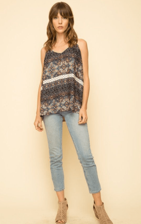 Mystree twist shoulder mix tank