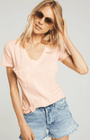 Z SUPPLY Cotton Slub Tee - Apricot blush