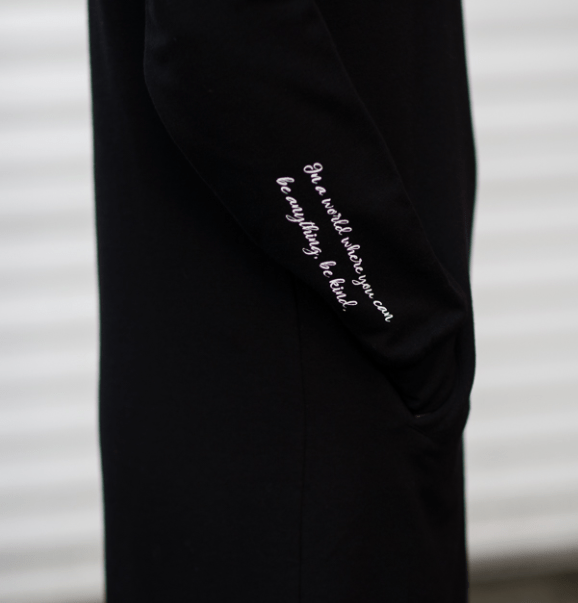 "The Roster ""In a World Where You Can be Anything, be Kind"" dress"