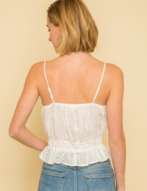 Mystree adjustable straps 100% Cotton tank