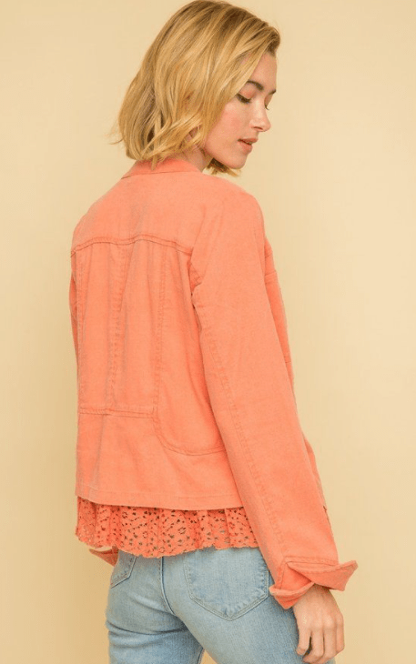Mystree peplum lace bottom jacket