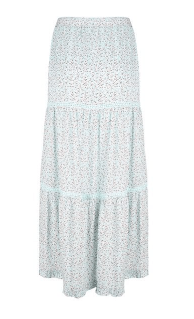 Esqualo flower print maxi skirt