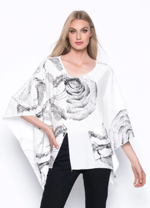 Picadilly Poncho Style Top With Pocket