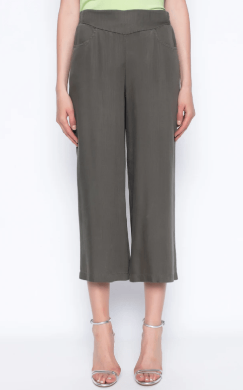 Picadilly Pull-On Wide Leg Cropped Pants