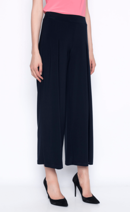 Picadilly Pleated Wide-Leg Pant - deep navy