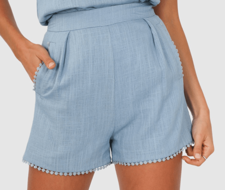 Lost in Lunar Josie shorts - blue