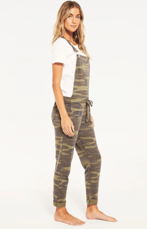 Z SUPPLY green camo overalls