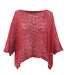 Marble soft crochet red loose knit top O/S
