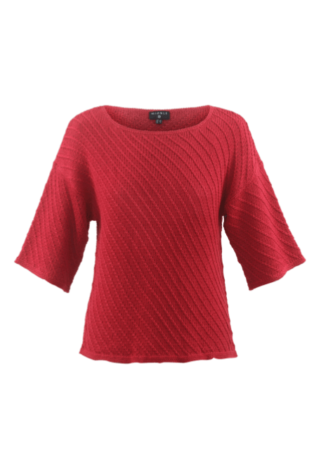Marble Pullover Sweater Red