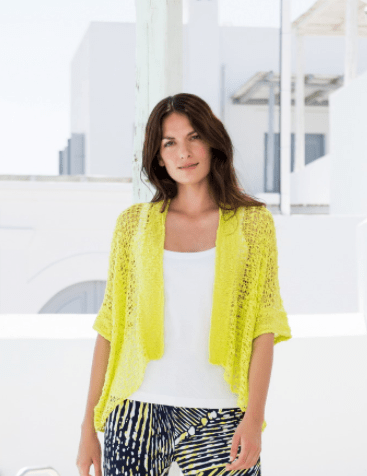 Marble Knit Cardi Coverup - Lime Green